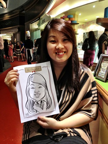 caricature live sketching for Au Chocolat Opening - 15