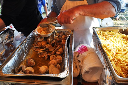 Serving Up Clams, Peace River Seafood's 10th Anniversary Party, Punta Gorda, Fla., Feb. 2, 2013