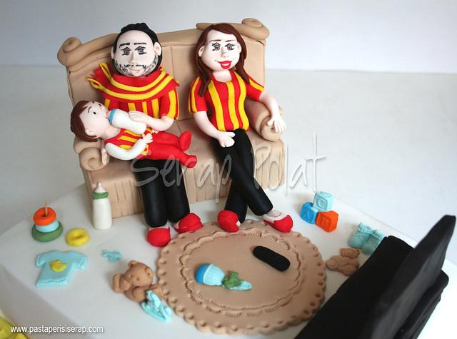 Galatasaray tasarım pasta