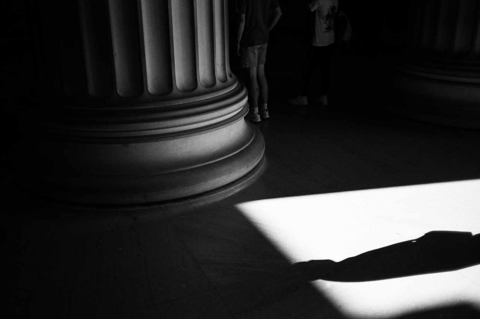 "Image titled ""Shadow, Lincoln Memorial."""
