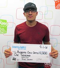 Alberto Cruz Ortiz - $1,000 $200,000 Jewel Jackpot