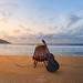 Musical dawn @Grumari Beach, Rio de Janeiro, Brazil by rafa bahiense