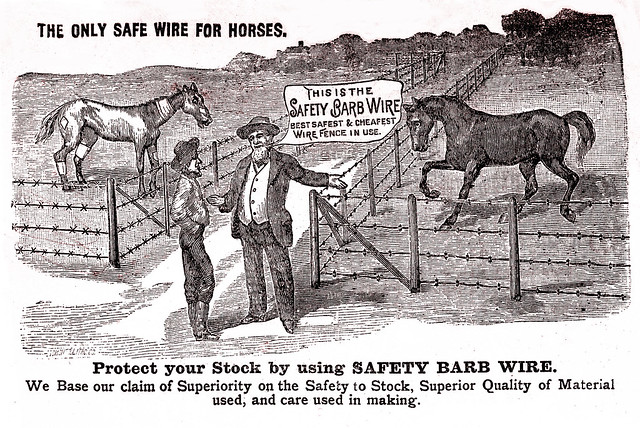 Zeke and Henry Discuss  Barbed Wire, about 1895