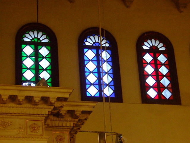 Stained Glass Windows inside the Umayyad Mosque, Damascus