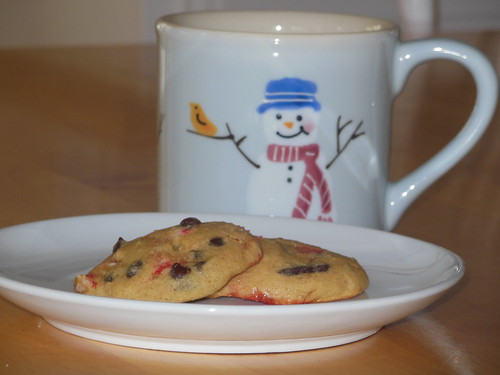 gluten free peppermint chocolate chip cookie