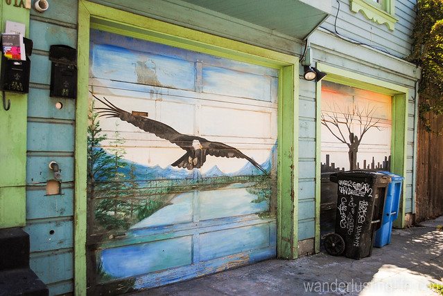Garage Door Murals On Balmy Alley Flickr Photo Sharing