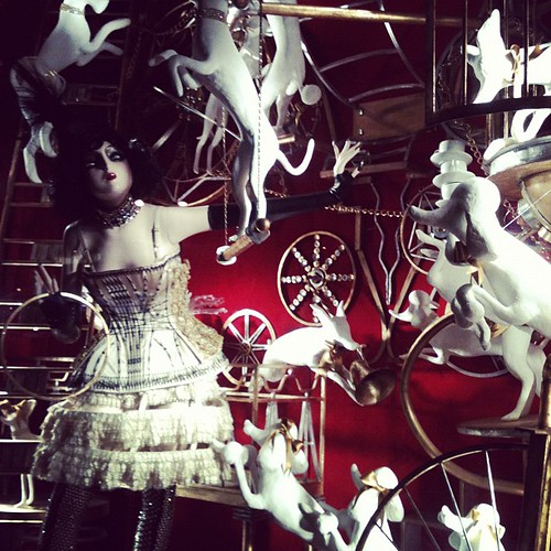 Bergdorf Goodman windows were amazing.
