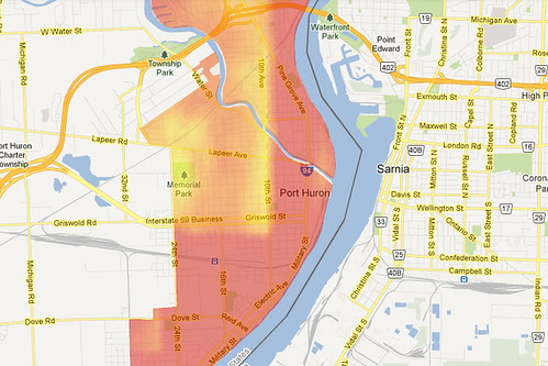 port huron heat map