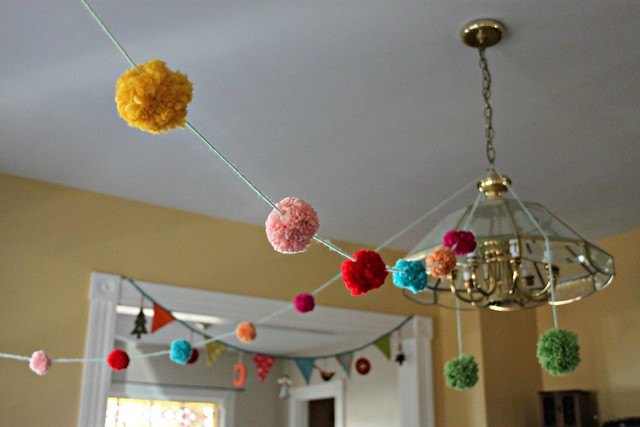 Princess & the Pea Pompom Garland