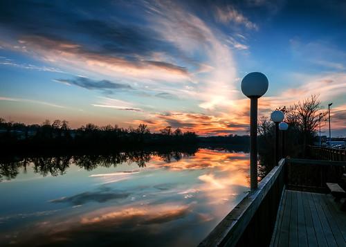 autumn sunset sky dan river evening virginia warm riverside deck danville va late southside nightfall