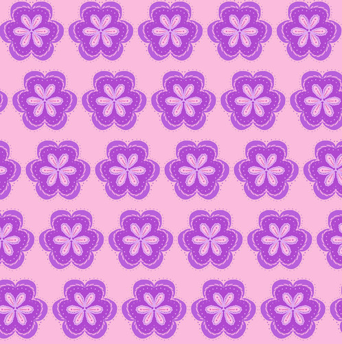 Many Purple Kaleidoscope Flowers by randubnick