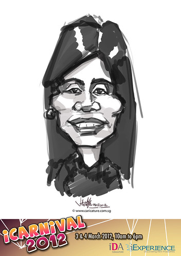 digital live caricature for iCarnival 2012  (IDA) - Day 2 - 60