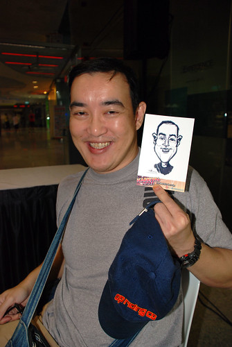 digital live caricature sketching for iCarnival (photos) - Day 2 - 20