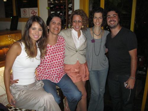 os blogueiros verdinhos reunidos: Isis Nobile Diniz, eu, Carol Costa, Bia Levischi e Rodrigo Barba