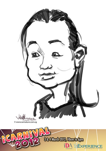 digital live caricature for iCarnival 2012  (IDA) - Day 1 - 37