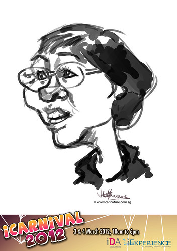 digital live caricature for iCarnival 2012  (IDA) - Day 1 - 64