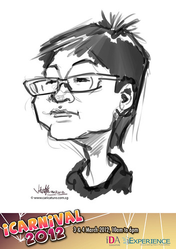 digital live caricature for iCarnival 2012  (IDA) - Day 2 - 23
