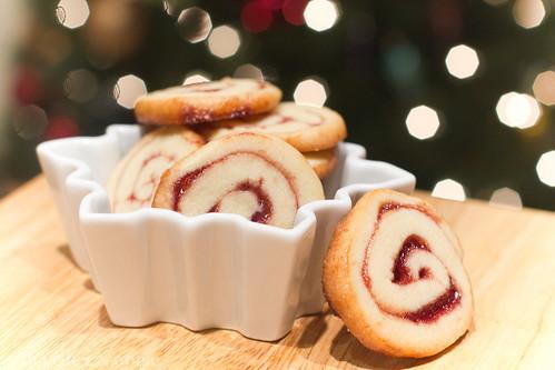 Linzer Pinwheel Cookies