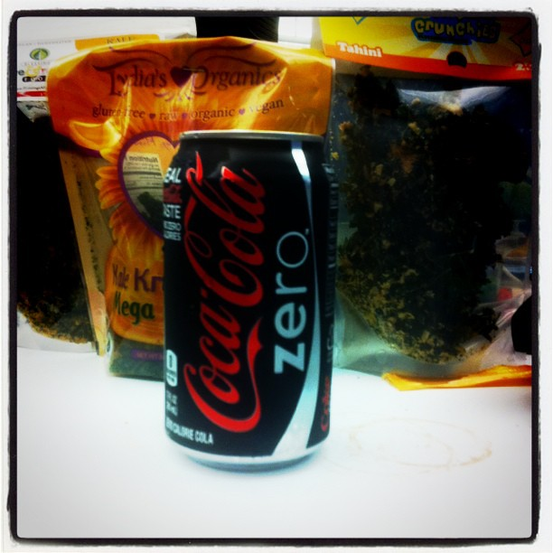 My zynga diet: kale and coke zero.