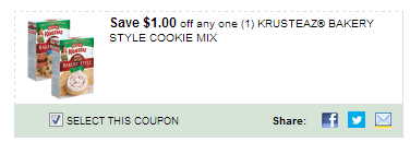 $1.00/1 Krusteaz Bakery Style Cookie Mix Coupon