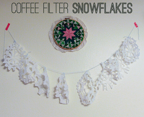 Coffee Filter Snowlakes DIY
