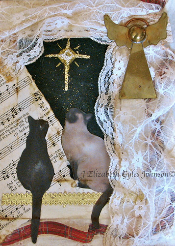 Cats Christmas Collage