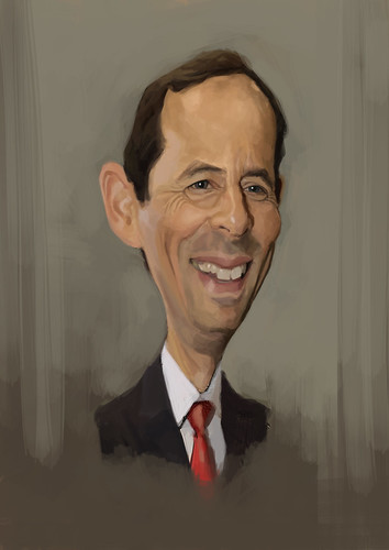 digital caricature of Gido van Praag for Hewlett Packard - 3