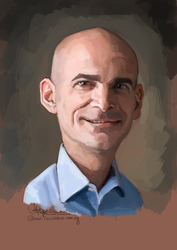 digital caricature of Ronen Samuel for Hewlett Packard (revised) -  1