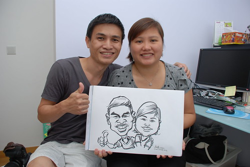 caricature live sketching for birthday party 10032012 - 3