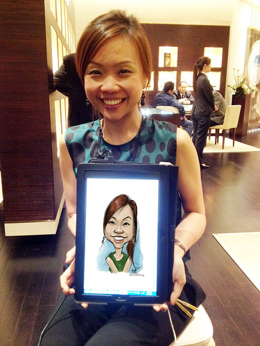 digital caricature live sketching for Vacheron Constantin - 3a