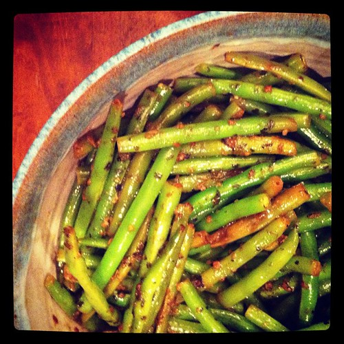 Green beans at #Christmas dinner.
