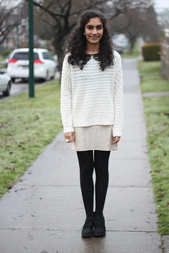 studded collar + sweater