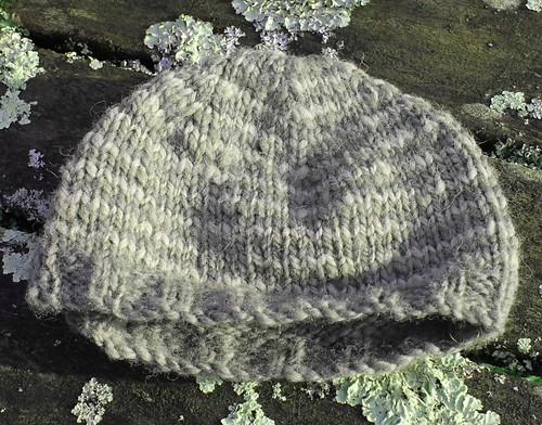 nettle and thistle dyed hat
