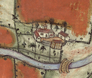 detail from 16th century map of Gt Budworth, Cheshire