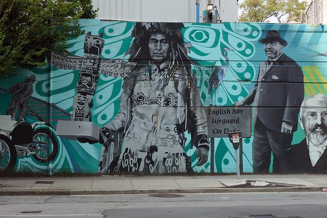 Vancouver: Mural (Behind a parking lot off Georgian Street)