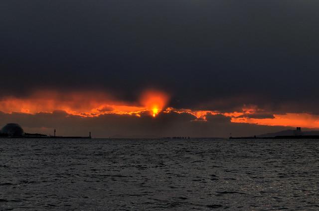 大関門の夕陽