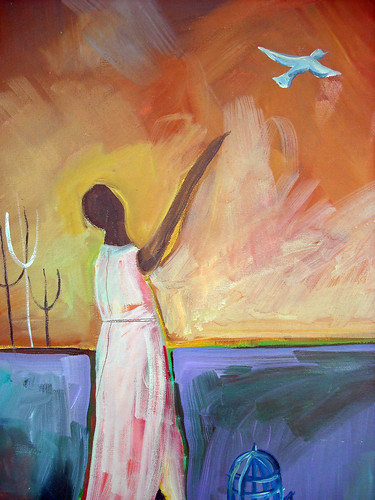 "oil on canvas ""farewell"" by Lorie McCown"