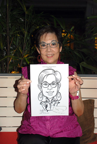 caricature live sketching for Kaleido Vision Pte Ltd Product Launch - 7
