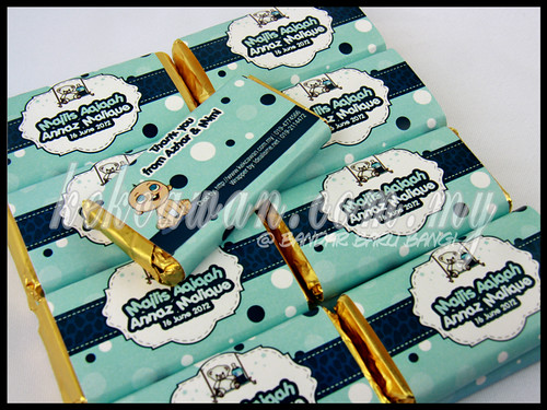 Personalised Choc Bar: Aqiqah