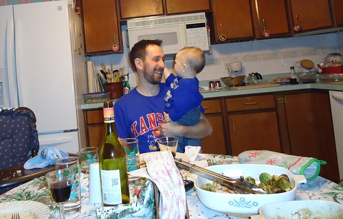 Dad and Franklin at the Table