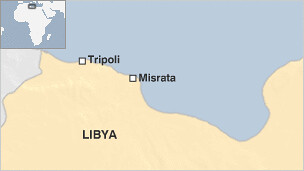 A map of western Libya showing the city of Misrata where a Christian church was bombed near the area killing two Egyptians. The City Council in Misrata said that dynamite was found at the scene of the explosion. by Pan-African News Wire File Photos