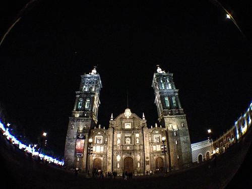 La catedral de Puebla.