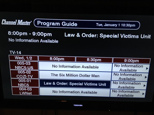 Did you lose your TV guide service on your DVR or TV too?