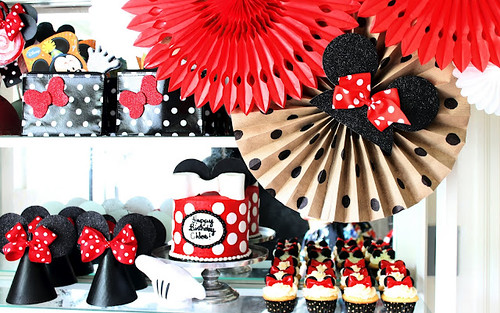 Decoracion de Minnie Mouse para Fiestas Infantiles