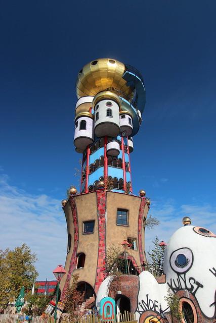 Kuchlbauer Tower (Kuchlbauer-Turm), by Friedenreich Hundertwasser