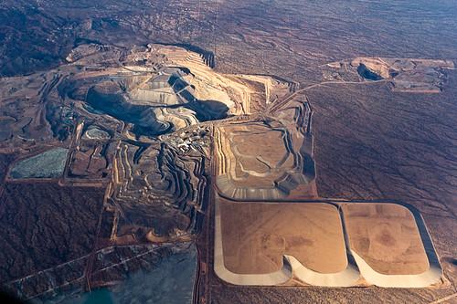 arizona mine open pit aerial pima copper
