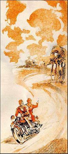 1935 Triumph Brochure Sketch by bullittmcqueen
