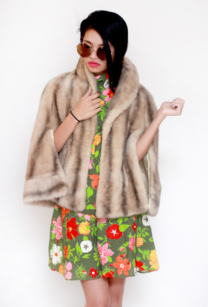 vintage fur overcoat by Tarte Vintage at shoptarte.com