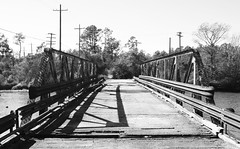 Abandoned Pony Truss Swing Bridge over Cow Bayou, Cormier Road, Orangefield, Texas 1301031352BW