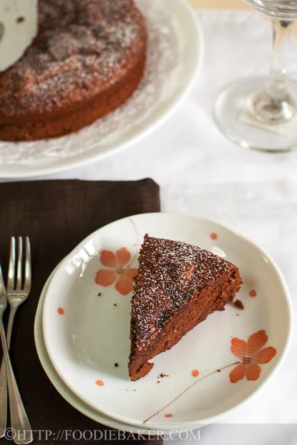 Dark Chocolate Almond Cake